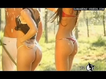 Alexandra Larsson fit ass in thong video